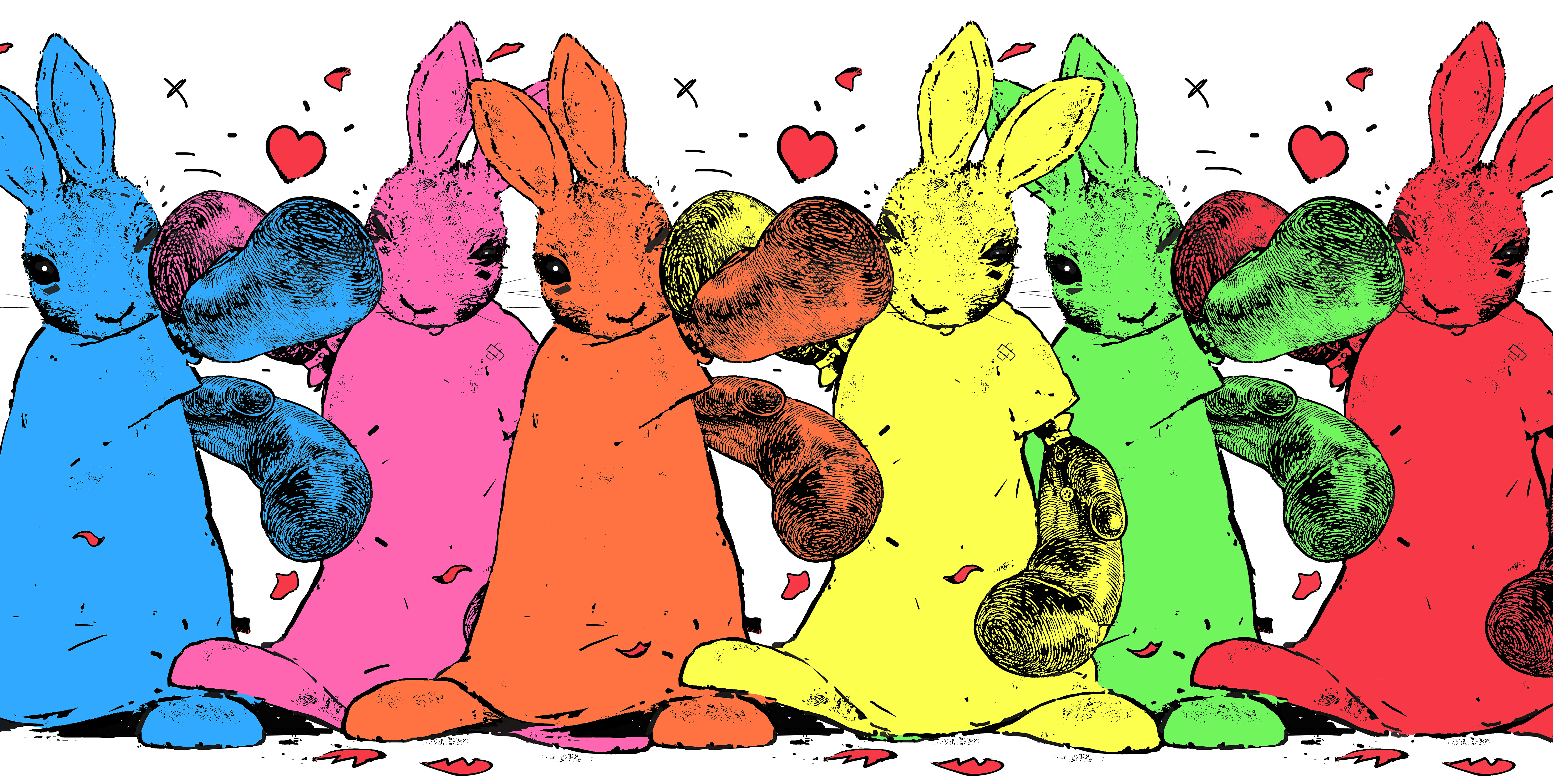 Harry Bunce - UNITED COLORS OF BUNNY TOWN